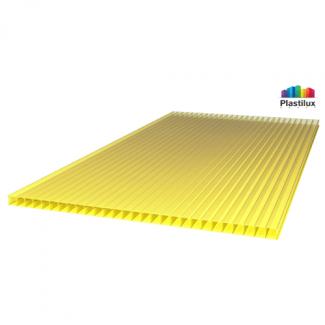 Сотовый поликарбонат ROYALPLAST жёлтый 2100х12000х8мм