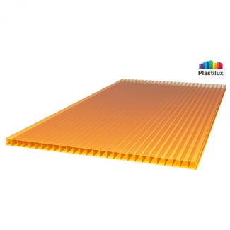 Сотовый поликарбонат ULTRAMARIN оранжевый 2100х6000х6мм