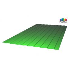 Профилированный поликарбонат SUNNEX С-8 (У) 0,8мм зелёный 1,15х2м