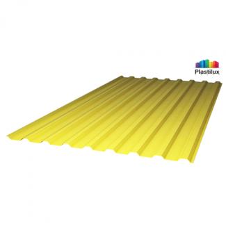 Профилированный поликарбонат SUNNEX МП-20 (У) 0,8мм жёлтый 1,15х2м