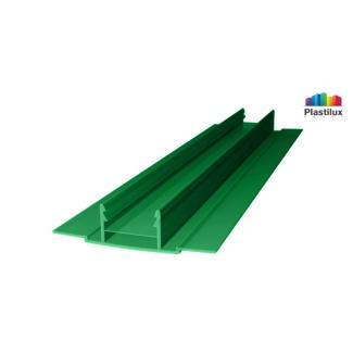 Профиль для поликарбоната ROYALPLAST HCP-D база зелёный 4-10мм 6000мм
