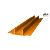 Поликарбонатный профиль ROYALPLAST HCP-D база оранжевый 4-10мм 6000мм