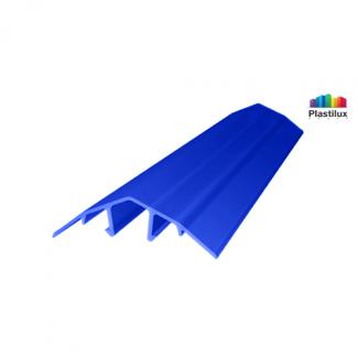 Профиль для поликарбоната ROYALPLAST HCP-U крышка синий 4-10мм 6000мм