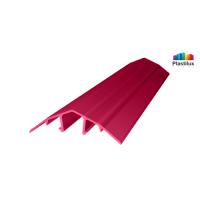 Профиль для поликарбоната ROYALPLAST HCP-U крышка гранат 4-10мм 6000мм
