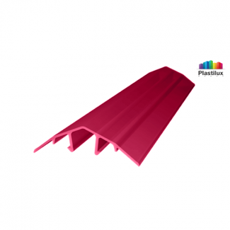 Поликарбонатный профиль ROYALPLAST HCP-U крышка гранат 4-10мм 6000мм