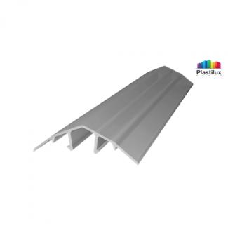 Поликарбонатный профиль ROYALPLAST HCP-U крышка серебро 4-10мм 6000мм
