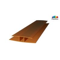 Профиль для поликарбоната ROYALPLAST HP соединительный бронза 6мм 6000мм