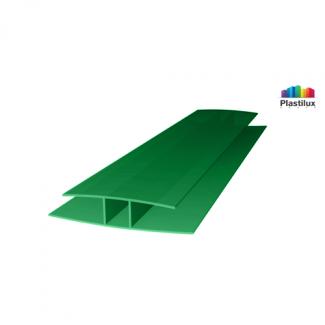 Профиль для поликарбоната ROYALPLAST HP соединительный зелёный 6мм 6000мм