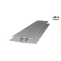 Профиль для поликарбоната ROYALPLAST HP соединительный серебро 10мм 6000мм