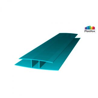 Профиль для поликарбоната ROYALPLAST HP соединительный бирюза 8мм 6000мм
