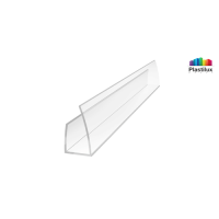Поликарбонатный профиль ROYALPLAST UP торцовый прозрачный 10мм 2100мм