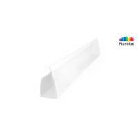 Поликарбонатный профиль ROYALPLAST UP торцовый белый-матовый 6мм 2100мм