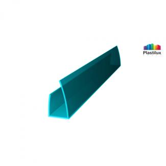 Профиль для поликарбоната ROYALPLAST UP торцевой бирюза 10мм 2100мм