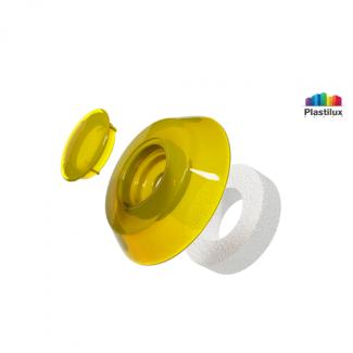 Термошайба для поликарбоната УП500 жёлтый D=40мм